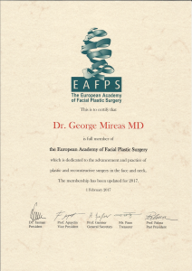 EAFPS Certification 2017 facial plastic surgeon